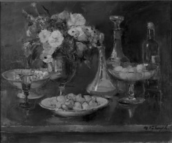 Médard Verburgh (Belgian, 1886-1957). Still Life, ca. 1926. Oil on canvas, 25 11/16 x 30 11/16 in. (65.2 x 77.9 cm). Brooklyn Museum, A. Augustus Healy Fund, 33.139. © artist or artist's estate