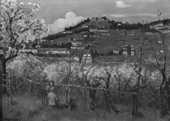 Joseph Félix Bouchor (French, 1853-1937). View of the Hill, Fiesole (Vue du Coteau, Fiesole), n.d. Oil on canvas, 13 3/8 x 18 5/16 in. (34 x 46.5 cm). Brooklyn Museum, Bequest of Alfred W. Jenkins, 33.255. © artist or artist's estate