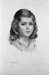 John Shenton Eland (British, 1872-1933). Portrait of Child in Yellow Dress, 20th century. Tempera, Sheet: 18 1/4 x 11 1/2 in. (46.4 x 29.2 cm). Brooklyn Museum, Gift of Mrs. John S. Eland, 33.260.6. © artist or artist's estate