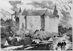 Thornton Oakley (American, 1881-1953). Vitre, the Chateau. Watercolor Brooklyn Museum, John B. Woodward Memorial Fund, 33.90. © artist or artist's estate