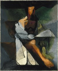 Jacques Villon (French, 1875-1963). The Philosopher (Le Philosophe), 1930. Oil on canvas, 39 5/8 x 31 7/8in. (100.6 x 81cm). Brooklyn Museum, Gift of Gerda Stein, 34.1000. © artist or artist's estate