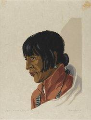 Treva Wheete (American, ca. 1890s - ca. 1963). Manuel of Tesuque, 1935. Woodcut on heavy Japan paper, Sheet: 13 x 9 7/8 in. (33 x 25.1 cm). Brooklyn Museum, 35.2029. © artist or artist's estate