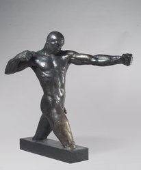 Vuk Vuchinich (American, 1901-1974). The Archer, 1933. Bronze, 49 1/2 x 33 1/2 x 7 1/2 in. (125.7 x 85.1 x 19.1 cm). Brooklyn Museum, Ella C. Woodward Memorial Fund, 35.951. © artist or artist's estate