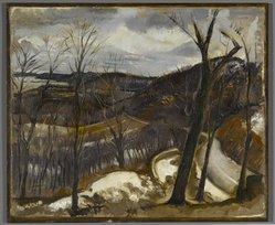 Henry Varnum Poor (American, 1887-1970). View Over Nyack, Winter, 1933. Oil on canvas, 20 x 24 in. (50.8 x 61 cm). Brooklyn Museum, John B. Woodward Memorial Fund, 36.307. © artist or artist's estate