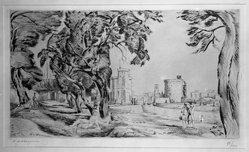 Henry de Waroquier (French, 1881-1970). Landscape. Drypoint on laid paper, 7 7/8 x 13 3/4 in. (20 x 35 cm). Brooklyn Museum, Anonymous gift, 36.52. © artist or artist's estate