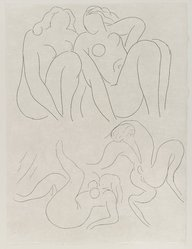 """Henri Matisse (French, 1869-1954). [Untitled] (Headpiece for the Poem """"L'Après-Midi d'un Faune""""), 1932. Etching on wove paper, Sheet: 13 x 9 3/4 in. (33 x 24.8 cm). Brooklyn Museum, Carll H. de Silver Fund, 36.67.14. © artist or artist's estate"""