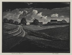 Asa Cheffetz (American, 1897-1965). Midsummer Vermont, 1936. Wood engraving, Sheet: 9 1/2 x 10 1/4 in. (24.1 x 26 cm). Brooklyn Museum, Purchased by Special Subscription, 36.866. © artist or artist's estate
