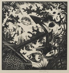 Robert John Gibbings (British, 1889-1958). The Lost Anchor, 1936. Wood engraving on laid paper, Sheet: 14 x 11 1/2 in. (35.6 x 29.2 cm). Brooklyn Museum, Frank Sherman Benson Fund, 36.971. © artist or artist's estate