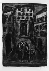 Georges Rouault (French, 1871-1958). Banlieu II, 1929. Lithograph on laid paper, 12 3/8 x 8 11/16 in. (31.5 x 22 cm). Brooklyn Museum, By exchange, 37.113. © artist or artist's estate