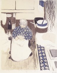 Édouard Vuillard (French, 1868-1940). The Cook (La Cuisinière), 1899. Color lithograph on China paper, Image: 14 x 11 1/16 in. (35.6 x 28.1 cm). Brooklyn Museum, By exchange, 37.149.12. © artist or artist's estate