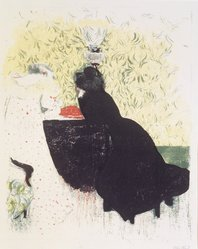 Édouard Vuillard (French, 1868-1940). The Two Sisters-in-Law (Les Deux Belles-soeurs), 1899. Color lithograph on China paper, Image: 13 15/16 x 11 7/16 in. (35.4 x 29.1 cm). Brooklyn Museum, By exchange, 37.149.13. © artist or artist's estate
