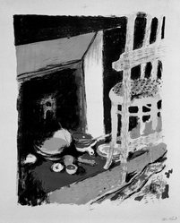 Édouard Vuillard (French, 1868-1940). The Hearth (L'Atre), 1899. Color lithograph on China paper, Image: 13 3/8 x 11 in. (34 x 27.9 cm). Brooklyn Museum, By exchange, 37.149.9. © artist or artist's estate
