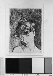 Pablo Picasso (Spanish, 1881-1973). Tête de Femme, 1905. Etching on wove paper, Sheet: 20 1/16 x 14 in. (51 x 35.6 cm). Brooklyn Museum, 37.22. © artist or artist's estate
