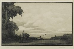 Thomas Willoughby Nason (American, 1889-1971). Morning, 1937. Wood engraving on thin wove paper, Sheet: 9 1/8 x 12 in. (23.2 x 30.5 cm). Brooklyn Museum, 37.607. © artist or artist's estate