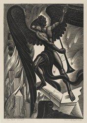 Boris Artzybasheff (American, 1899-1965). The Last Trumpet, 1937. Wood engraving, Sheet: 14 3/4 x 11 1/4 in. (37.5 x 28.6 cm). Brooklyn Museum, 37.608. © artist or artist's estate