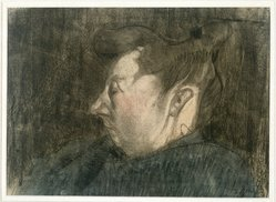 Paul Klee (Swiss, 1879-1940). Portrait of a Pregnant Woman (Bildnis Einer Schwangeren Frau), 1907. Pastel, watercolor wash, and brown ink on laid paper, 9 5/8 x 13 7/16 in. (24.5 x 34.2 cm). Brooklyn Museum, Museum Collection Fund, 38.110. © artist or artist's estate