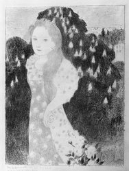 Maurice Denis (French, 1870-1943). Twilights Have the Sweetness of Old Painting (Les Crépuscules ont une douceur d'ancienne peinture), 1892-1899. Color lithograph on wove paper, Image: 16 1/4 x 11 3/4 in. (41.3 x 29.8 cm). Brooklyn Museum, By exchange, 38.115. © artist or artist's estate