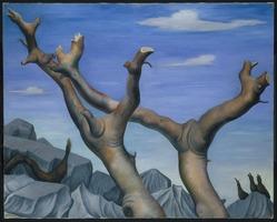 Diego Rivera (Mexican, 1886-1957). Copalli, 1937. Oil on canvas, 36 x 48 1/16 in.  (91.5 x 122.0 cm). Brooklyn Museum, A. Augustus Healy Fund, 38.36. © artist or artist's estate