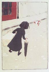 Pierre Bonnard (French, 1867-1947). The Little Laundry Girl (La Petite Blanchisseuse), 1895-1896. Color lithograph on Japanese laid paper, Image: 11 7/16 x 7 7/8 in. (29.1 x 20 cm). Brooklyn Museum, By exchange, 38.444. © artist or artist's estate