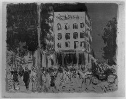 Pierre Bonnard (French, 1867-1947). Les Boulevards, 1900. Color lithograph on China paper, Image: 10 1/4 x 13 in. (26 x 33 cm). Brooklyn Museum, By exchange, 38.445. © artist or artist's estate