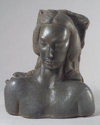 Jose de Creeft (American, born Spain, 1884-1982). Semitic Head, 1936. Lead and concrete, 31 1/2 x 27 9/16 x 18 1/2 in. (80 x 70 x 47 cm). Brooklyn Museum, Dick S. Ramsay Fund, 38.557. © artist or artist's estate