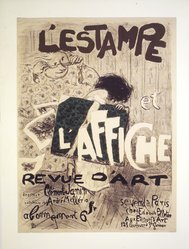 Pierre Bonnard (French, 1867-1947). L'Estampe et l'affiche, 1897. Color lithograph on wove paper, Image: 31 1/2 x 23 5/8 in. (80 x 60 cm). Brooklyn Museum, Gift of Jean Goriany, 38.988. © artist or artist's estate