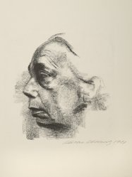 Käthe Kollwitz (German, 1867-1945). Self Portrait (Selbstbildnis), 1927. Lithograph on thin China paper, Image: 12 9/16 x 11 3/4 in. (31.9 x 29.8 cm). Brooklyn Museum, Museum Collection Fund, 39.15. © artist or artist's estate