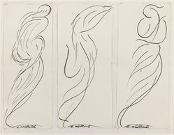 Abraham Walkowitz (American, born Siberia, 1878-1965). Dancing Figure (Isadora Duncan), n.d. Black ink and graphite on cream, medium-weight, moderately textured paper, Sheet (mount): 8 1/2 x 10 7/8 in. (21.6 x 27.6 cm). Brooklyn Museum, Gift of the artist, 39.473a. © Estate of Abraham Walkowitz, courtesy Zabriskie Gallery, Inc.
