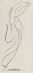 Abraham Walkowitz (American, born Siberia, 1878-1965). Dancing Figure (Isadora Duncan), n.d. Black ink and graphite on cream, medium-weight, moderately textured paper, Sheet (mount): 8 1/2 x 10 7/8 in. (21.6 x 27.6 cm). Brooklyn Museum, Gift of the artist, 39.473b. © Estate of Abraham Walkowitz, courtesy Zabriskie Gallery, Inc.