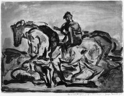 Georges Rouault (French, 1871-1958). Le Conducteur de Chevaux, 1910. Lithograph on wove paper, 13 1/8 x 17 1/2 in. (33.4 x 44.5 cm). Brooklyn Museum, Gift of Frank Hubachek, 39.554. © artist or artist's estate