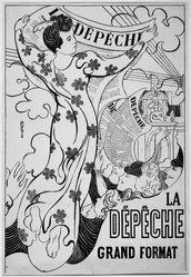 Maurice Denis (French, 1870-1943). The Dispatch (La Dépêche), 1892. Color lithograph on wove paper, Image: 18 5/8 x 12 1/2 in. (47.3 x 31.8 cm). Brooklyn Museum, Gift of Jean Goriany, 39.592. © artist or artist's estate