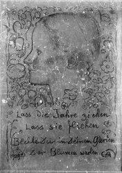 Cuno Amiet (Swiss, 1868-1961). Christmas Card (Girl in Profile) (Blatt auf Weihnachten [Mädchen im Profil]), 1929. Lithograph on paper, Image: 12 1/8 x 8 3/4 in. (30.8 x 22.2 cm). Brooklyn Museum, Anonymous gift, 39.62. © artist or artist's estate