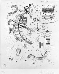 Wassily Kandinsky (Russian, 1866-1944). Etching for 24 Essais de Jakovski, 1934. Drypoint on wove paper, Image (Plate): 9 x 7 3/4 in. (22.9 x 19.7 cm). Brooklyn Museum, Brooklyn Museum Collection, 39.662.11. © artist or artist's estate