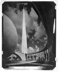 Adolf Fassbender (American, 1884-1980). Dynamic Symbol, ca. 1941. Photograph, 14 1/2 x 19 in. (36.8 x 48.3 cm). Brooklyn Museum, Gift of the artist, 41.382. © artist or artist's estate