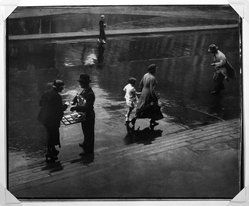Adolf Fassbender (American, 1884-1980). Passers-By, ca. 1941. Gelatin silver photograph, 13 1/2 x 16 1/2 in. (34.3 x 41.9 cm). Brooklyn Museum, Gift of the artist, 41.385. © artist or artist's estate