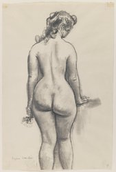 Eugene E. Speicher (American, 1883-1962). Nude Study, n.d. Crayon or charcoal on paper, Sheet: 15 15/16 x 10 9/16 in. (40.5 x 26.8 cm). Brooklyn Museum, Dick S. Ramsay Fund, 41.508. © artist or artist's estate