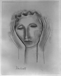 John Carroll (American, 1892-1959). Head, n.d. Graphite and charcoal on paper, sheet: 15 1/2 x 12 1/8 in. (39.4 x 30.8 cm). Brooklyn Museum, Dick S. Ramsay Fund, 41.510. © artist or artist's estate