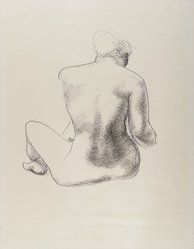 Isamu Noguchi (American, 1904-1988). Model, ca. early 1930s. Ink on thin, slightly textured cream colored paper, sheet: 22 1/8 x 17 3/8 in. (56.2 x 44.1 cm). Brooklyn Museum, Dick S.Ramsay Fund, 41.975. © artist or artist's estate