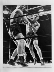 Joseph Costa (American, 1904-1988). Knock-out Punch, 1941. Gelatin silver photograph, sheet: 11 x 14 in. (27.9 x 35.6 cm). Brooklyn Museum, Gift of the artist, 42.127. © artist or artist's estate