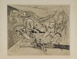Stanley William Hayter (British, 1901-1988). Combat, Eighth State, 1936. Engraving, soft ground etching, Other (Plate): 15 3/4 x 19 3/8in. (40 x 49.2cm). Brooklyn Museum, By exchange, 43.238.11. © artist or artist's estate