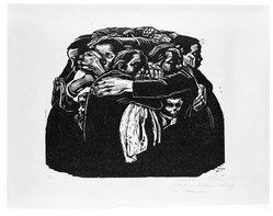 Käthe Kollwitz (German, 1867-1945). The Mothers (Die Mütter), 1922-1923. Woodcut on heavy Japan paper, Image: 13 3/8 x 15 13/16 in. (34 x 40.2 cm). Brooklyn Museum, Carll H. de Silver Fund, 44.201.6. © artist or artist's estate