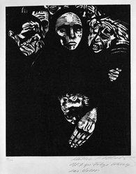 Käthe Kollwitz (German, 1867-1945). The People (Das Volk), 1922-1923. Woodcut on heavy Japan paper, Image: 14 3/16 x 11 7/8 in. (36 x 30.2 cm). Brooklyn Museum, Carll H. de Silver Fund, 44.201.7. © artist or artist's estate