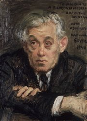 Raphael Soyer (American, born Russia, 1899-1987). Abraham Walkowitz, 1940. Oil on canvas, 19 x 15 in. (48.3 x 38.1 cm). Brooklyn Museum, Gift of Abraham Walkowitz, 44.66. © Estate of Raphael Soyer