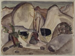 Marguerite Thompson Zorach (American, 1887-1968). Lost Lake, Yosemite, 1920. Watercolor over graphite on cream, moderately thick, slightly textured, wove paper, 10 1/16 x 13 5/8 in. (25.6 x 34.6 cm). Brooklyn Museum, Gift of Ettie Stettheimer, 45.122. © artist or artist's estate