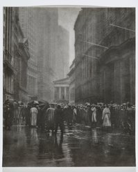 Joseph Petrocelli (American, died 1928). The Curb Market - New York, 1921. Bromoil print, 14 x 17 in. (35.6 x 43.2 cm). Brooklyn Museum, Gift of Mrs. Joseph Petrocelli, 45.31.38. © artist or artist's estate