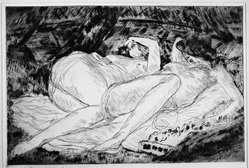 André Dunoyer de Segonzac (French, 1884-1974). Les Deux Soeurs, 1921. Etching on wove paper, 4 5/16 x 6 7/16 in. (11 x 16.4 cm). Brooklyn Museum, A. Augustus Healy Fund and Dick S. Ramsay Fund, 46.68. © artist or artist's estate