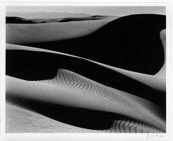 Edward Weston (American, 1886-1958). Dunes, Oceano, California, 1936. Gelatin silver photograph, Image: 7 1/2 x 9 1/2 in. (19.1 x 24.1 cm). Brooklyn Museum, Frank L. Babbott Fund and Frederick Loeser Fund, 46.75.1. © Center for Creative Photography, Arizona Board of Regents