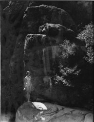 Forman G. Hanna (American, 1881-1950). Cliff Base. Photograph Brooklyn Museum, Gift of the artist, 47.126. © artist or artist's estate
