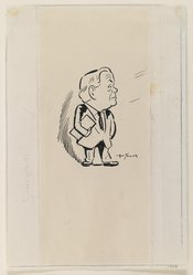 Arthur Young (American). Abraham Walkowitz, A Caricature, 1943. Pen and ink on paper, sheet: 9 x 6 1/4 in. (22.9 x 15.9 cm). Brooklyn Museum, Gift of Abraham Walkowitz, 47.146.1. © artist or artist's estate