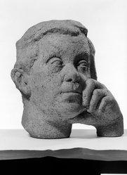 Concetta Scaravaglione (American, 1900-1975). Abraham Walkowitz, ca. 1943. Terracotta, 13 1/8 x 13 x 10 1/8 in. (33.3 x 33 x 25.7 cm). Brooklyn Museum, Gift of Abraham Walkowitz, 47.152. © artist or artist's estate